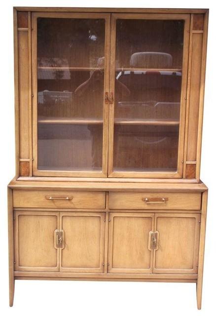 Vintage Drexel China Hutch Sideboard - Meridian - Storage Cabinets ...