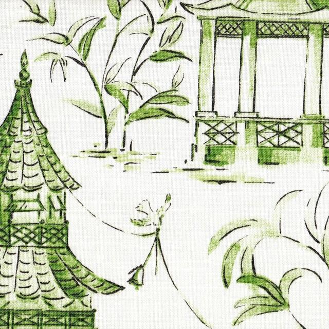 Shop Houzz | Close to Custom Linens Pagodas Jade Green & Gray ...