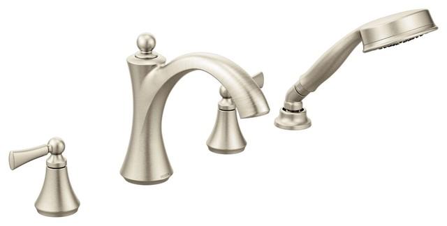 Moen Wynford 2 Handle Diverter Roman Tub Faucet Includes