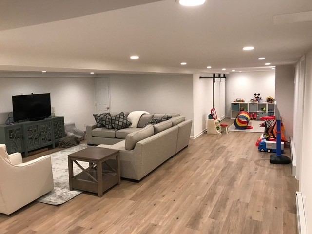 Basement Conversion-Family Living & Play Space