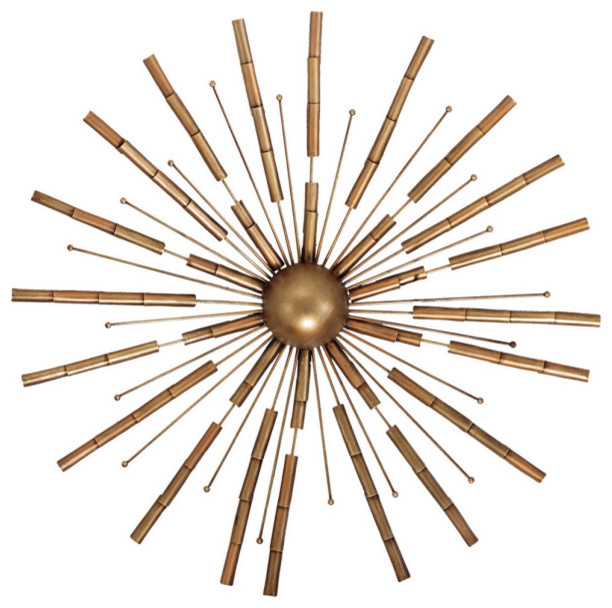 metal starburst wall decor propac starburst view in your room houzz 7474