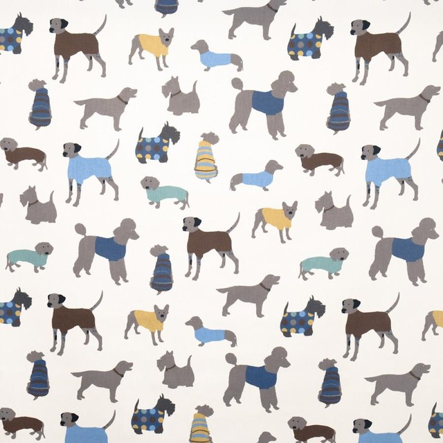 Doggy Days Fabric Eclectic Upholstery Fabric By