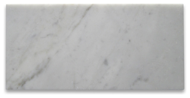 6x12 Carrara White Marble Subway Tile Honed Italian Bianco Carrera
