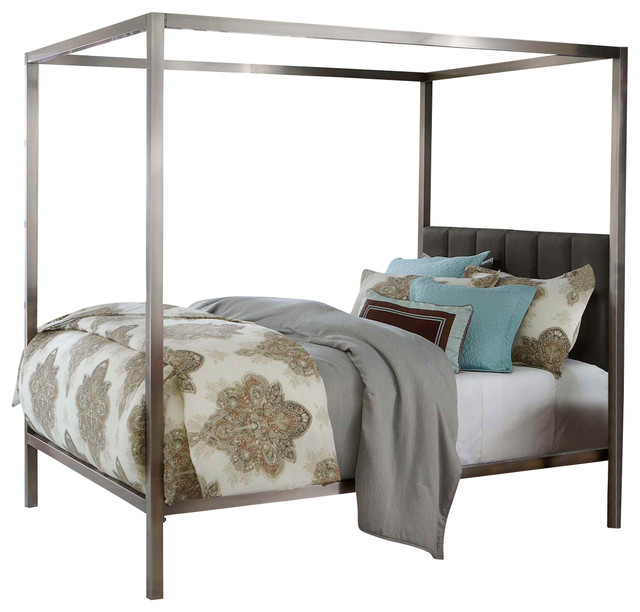 Hillsdale Chatham Canopy Bed In Antique Nickel Contemporary
