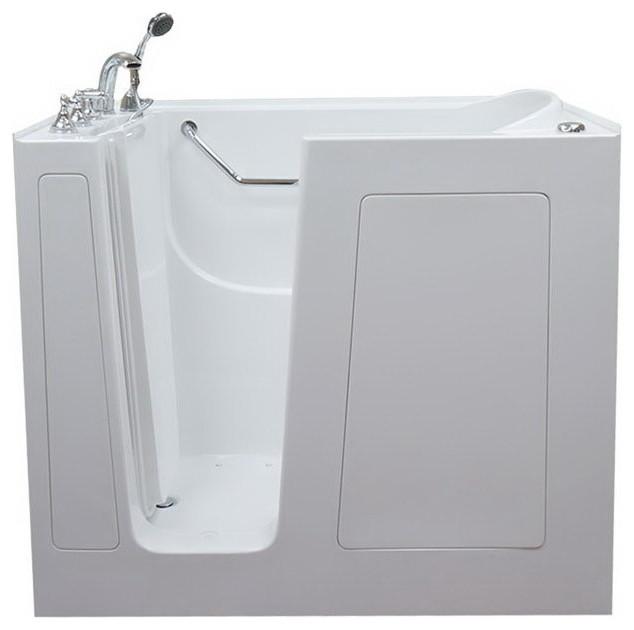 Shop houzz american tubs extra deep walk in tub bathtubs for Extra deep soaking tub