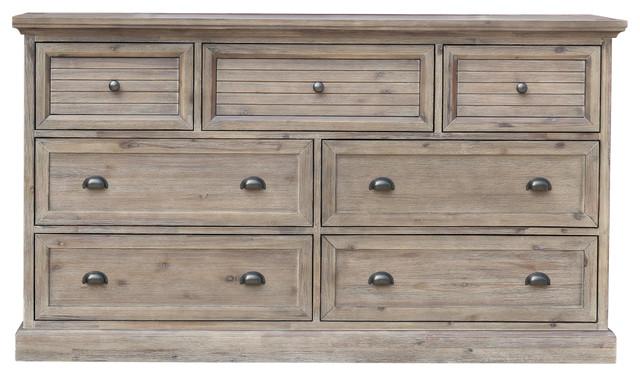Solstice Gray 7 Drawer Dresser.