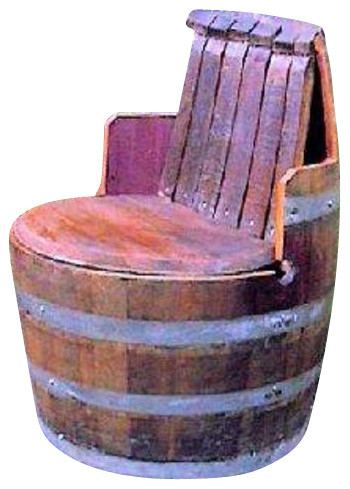 wine barrel chair with arm and back rest - Barrel Chairs