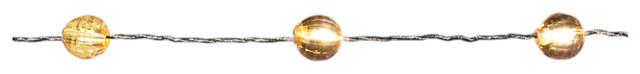 Micro Led Metallic Jewel Garland, 9 Ft, 27 Leds, Gold.