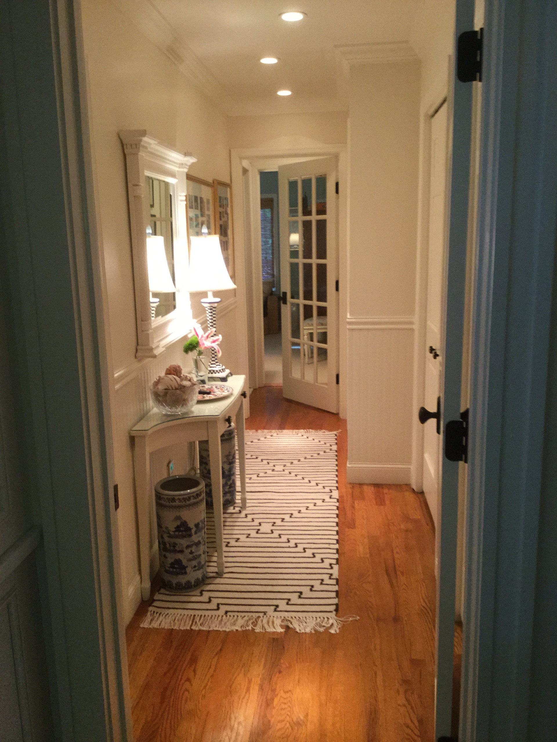 Laundry room/butler's pantry and Back hall