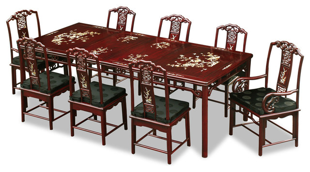 96 rosewood ling chi design dining table with 8 chairs china furniture and arts show 1875. Black Bedroom Furniture Sets. Home Design Ideas