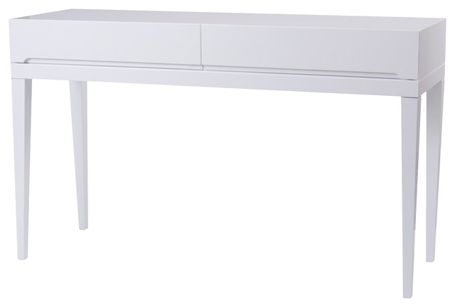 Incroyable Club Modern Console Table, White Lacquer