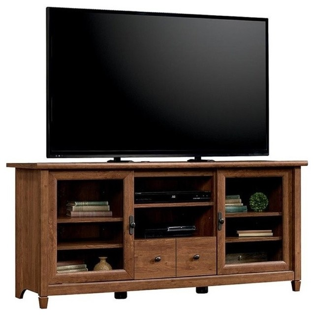 Pemberly Row Tv Stand, Auburn Cherry.
