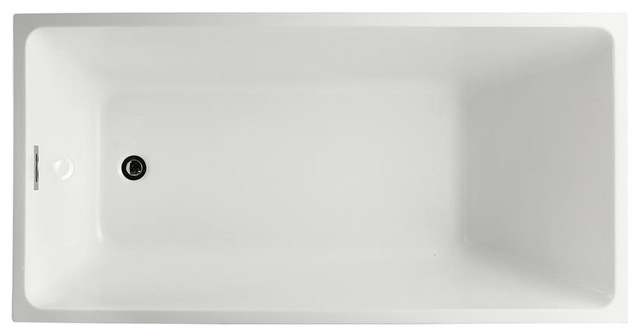 "Catania 67"" Freestanding Bathtub, Glossy White."