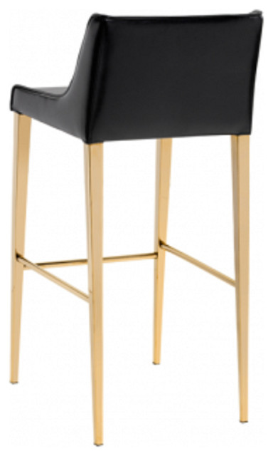 Gold Legs Leather Stool Contemporary Bar Stools And