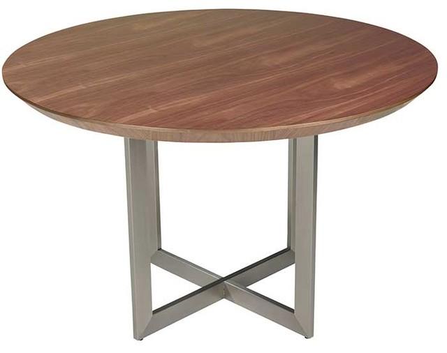 Tosca 54u0027u0027 Round Dining Table, Walnut