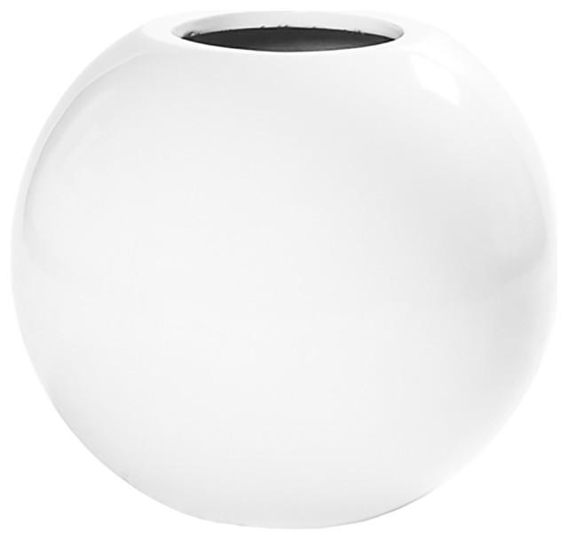 Basic Sleek Decorative Table Vase Medium White Contemporary