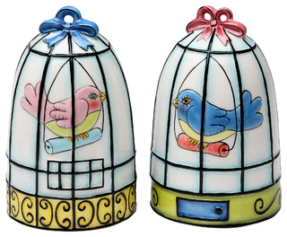 Birdcage Salt and Pepper Shakers, Set of 2