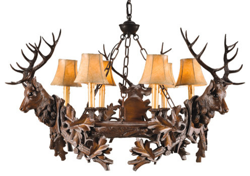 3 Royal Stag Chandelier