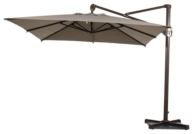 Abba Patio Square Cantilever Outdoor Umbrella Tan 10 Transitional Umbrellas Other By Earances International