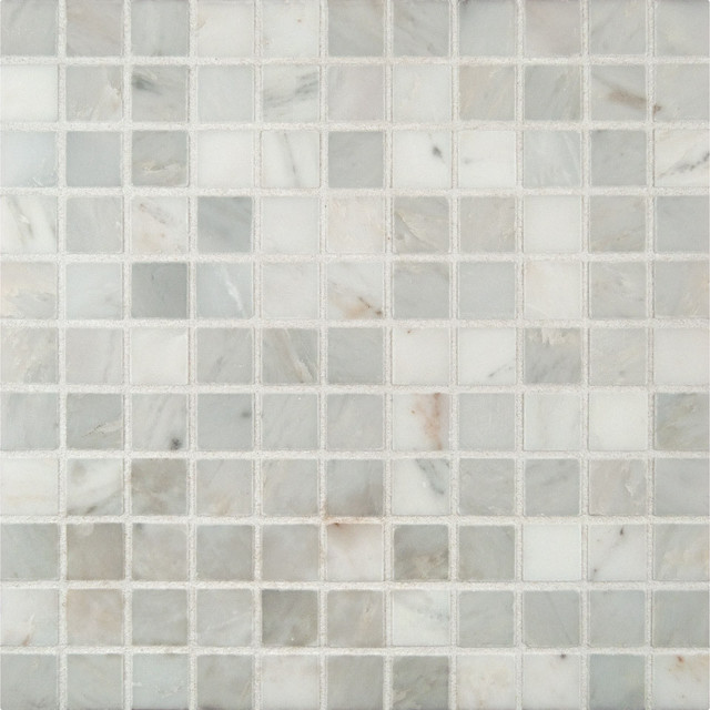Arabescato Carrara 1 Quot X 1 Quot Honed Marble Mosaic In 12 Quot X 12