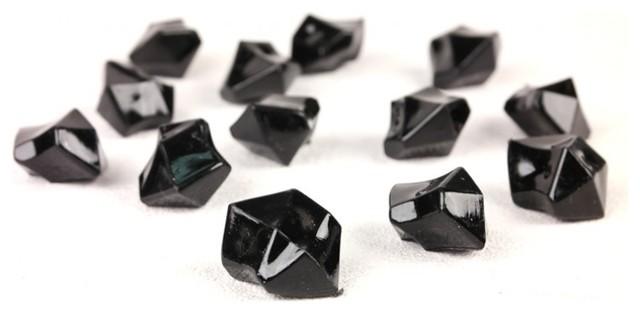 Black Acrylic Ice Rock Vase Filler Gems 1 Lb Bag Contemporary