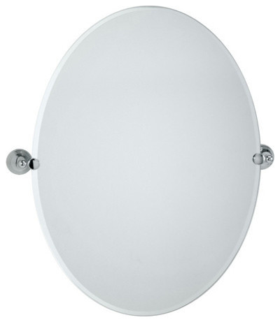 Gatco charlotte collection oval tilting wall mirror - Wall mounted tilting bathroom mirrors ...