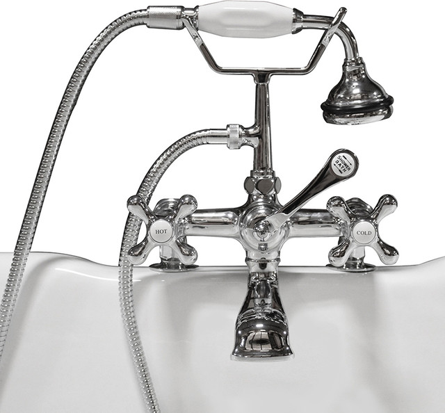 Clawfoot Tub Faucet Hand Held Shower 2 Quot Deck Mount