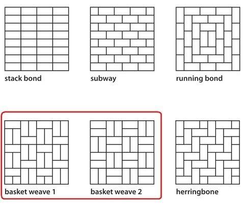 Pattern for master shower tile