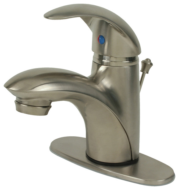 Ultra Faucets Single Handle Brushed Nickel Lavatory Faucet