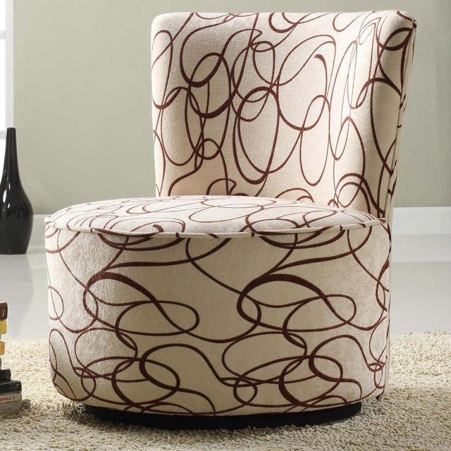 Shop Houzz Tribecca Home TRIBECCA HOME Moda Chocolate Swirl Print Round Swi