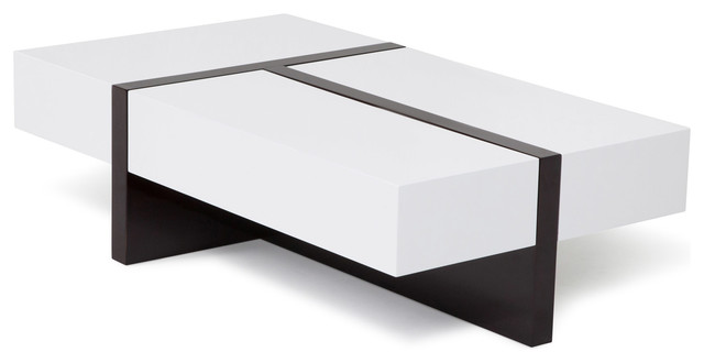 Awesome Mcintosh High Gloss Coffee Table, White