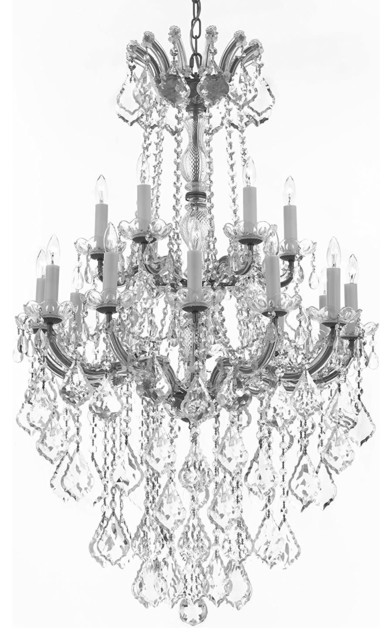 """Gallery T22-2312 18 Light 30"""" Wide Taper Candle Chandelier"""