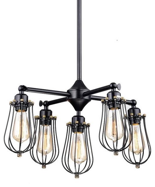 black chandelier lighting photo 5. Vintage Style Industrial Black Wire Cage Chandelier 5 Lights Chandeliers Lighting Photo