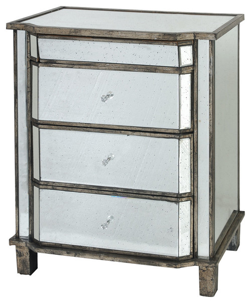 Mirrored Cabinet Chest With Drawers