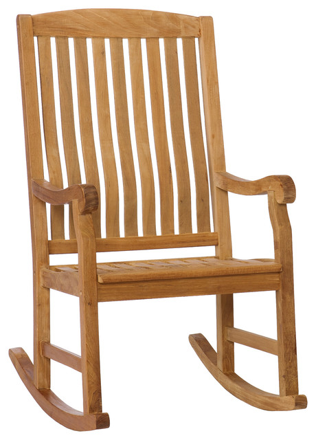 Therese Teak Porch Rocker Outdoor Rocking Chairs by SEI