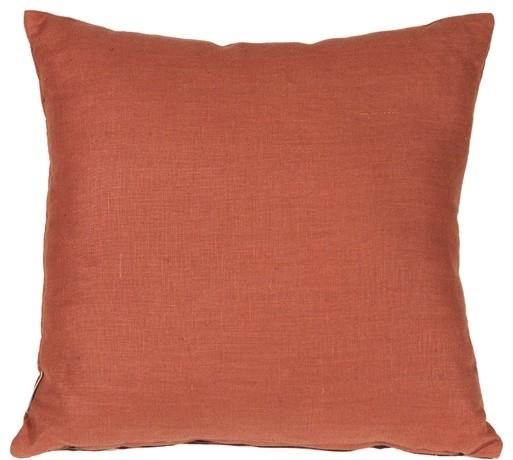 Pillow Decor - Tuscany Linen Sienna 18 x 18 Throw Pillow