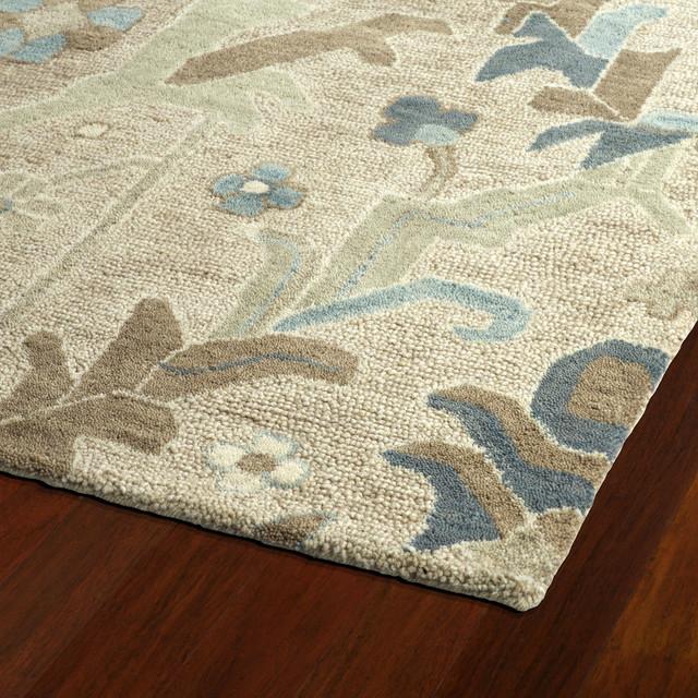 """Kaleen Hand-Tufted Brooklyn Wool Rug, Oatmeal, 5'x7'6"""""""