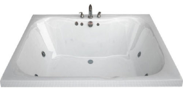 "48""x60"" Rectangular Air, Whirlpool Jetted Bathtub, Right."