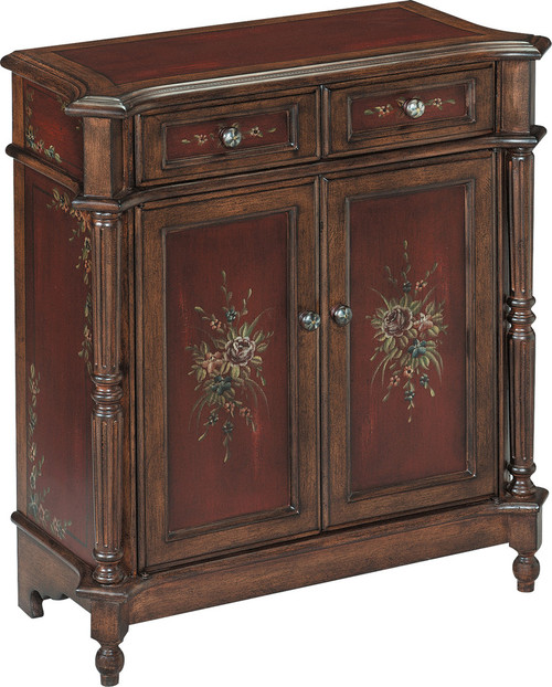 Chamberlin Cabinet in Burgandy And Walnut