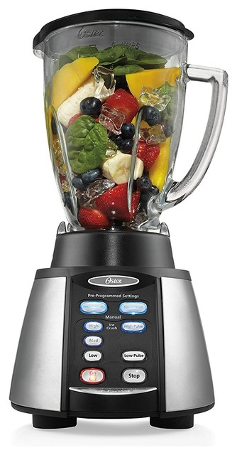 Oster Reverse Crush Counterforms Blender, With 6-Cup Glass Jar.