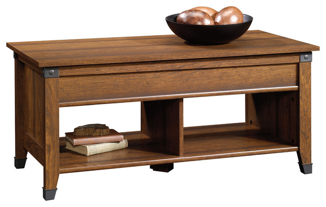 Carson Forge Lift Top Coffee Table, Washington Cherry