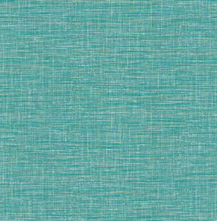 Exhale Teal Faux Grasscloth Wallpaper Swatch