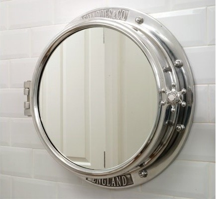 porthole bathroom cabinet chadder amp co mirrors and mirror cabinets traditional 14030 | traditional bathroom mirrors