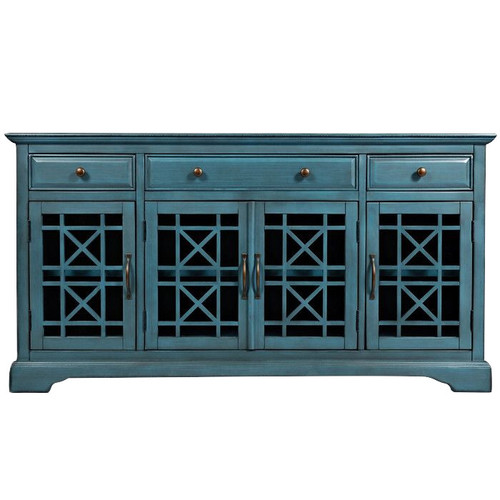 Jofran Craftsman 60 Media Unit, Antique Blue