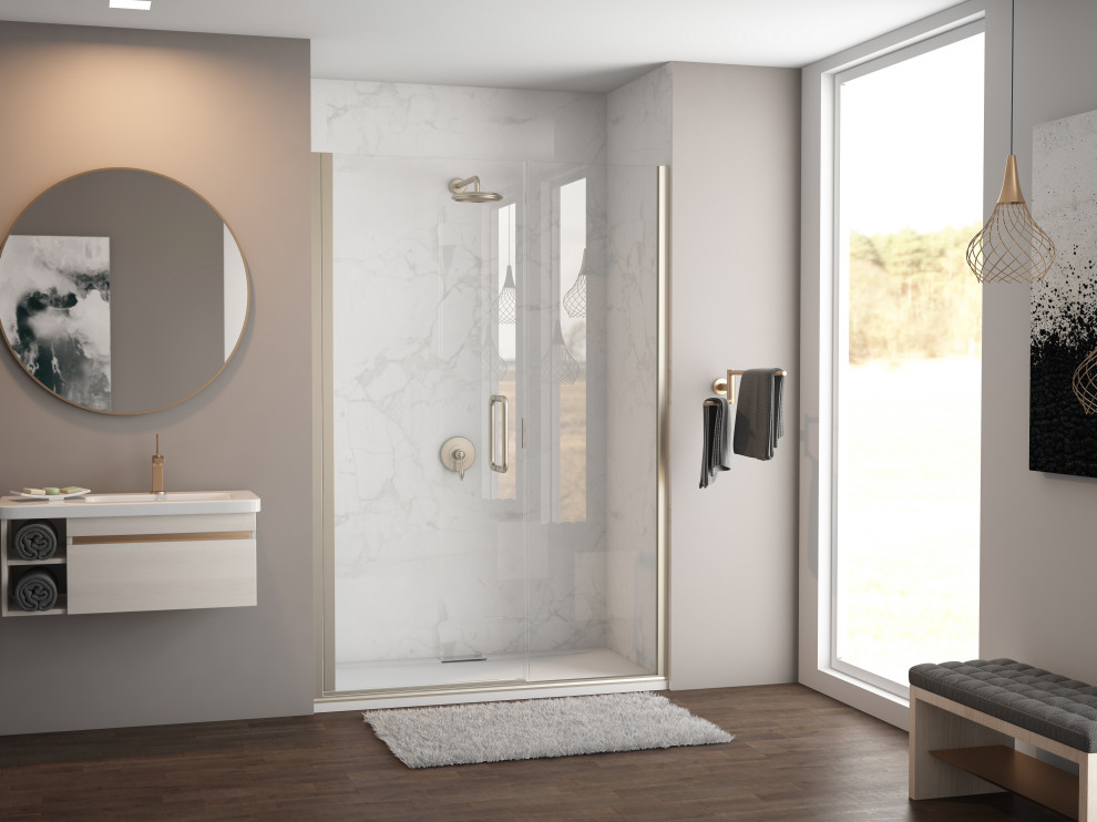 Coastal Shower Doors Ilusion Semi Frameless Shower Door Contemporary Tub And Shower Parts By Coastal Shower Doors