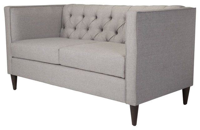 Fabulous Modern Contemporary Loveseat Sofa Light Gray Fabric Gmtry Best Dining Table And Chair Ideas Images Gmtryco