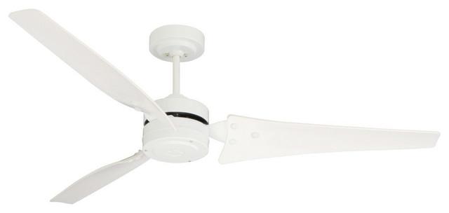 """Loft 60"""" Ceiling Fan Appliance White Appliance White Bla."""