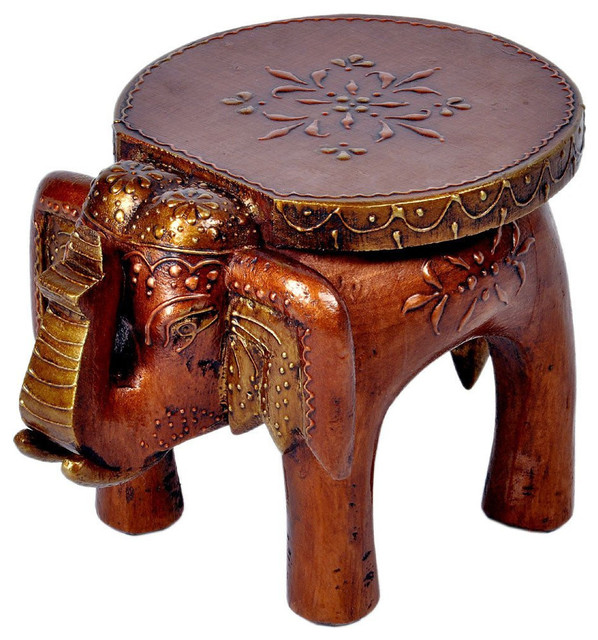 Shop Houzz Global Innovations Global Hand Carved Wood  : footstools and ottomans from www.houzz.com size 598 x 640 jpeg 128kB