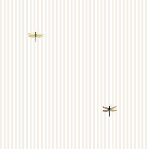 Dragonflies On Beige Stripe Shelf Paper Drawer Liner, 120x24, Laminated Vinyl.