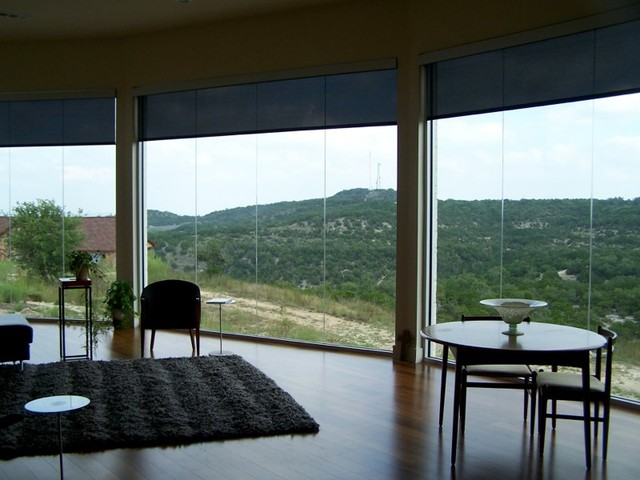 Inspiration for a contemporary dining room remodel in Austin